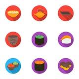 Sushi set icons in flat style. Big collection of sushi vector symbol stock illustration. Sushi set icons in flat style. Big collection of sushi vector symbol vector illustration