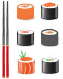 Sushi set icons vector illustration Royalty Free Stock Photo