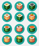 Sushi set icons Stock Photography