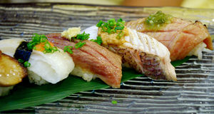 Sushi set, Japanese cuisine Stock Photography