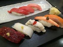 Sushi set. Japanese famous food call Sushi Royalty Free Stock Photos