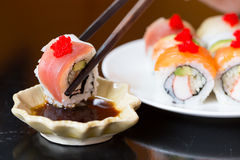 Sushi set, Japanese food Stock Photo