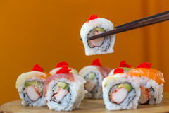 Sushi set, Japanese food Royalty Free Stock Images