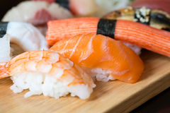 Sushi set, Japanese food Royalty Free Stock Image