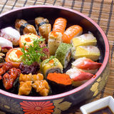 Sushi set mix Royalty Free Stock Images