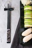 Sushi set nigiri and rolls stock photos