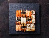 Sushi Set nigiri and sushi rolls Royalty Free Stock Images