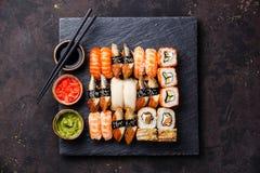 Sushi Set nigiri and sushi rolls Stock Photography