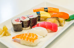 Sushi. Set for one people Stock Photos