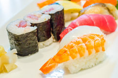 Sushi. Set for one people Royalty Free Stock Photography