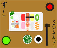 Sushi Set. Sushi and others on the table Stock Photography