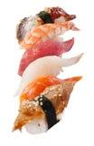 Sushi set over white Royalty Free Stock Photo