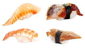Sushi set over white Stock Photo