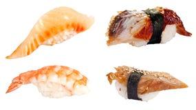 Sushi set over white Stock Photo