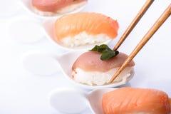 Sushi set over white background Royalty Free Stock Images