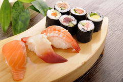 Sushi set plate Stock Photos
