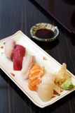 Sushi set in plate Stock Photography