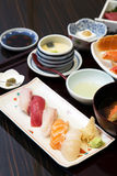 Sushi set in plate Royalty Free Stock Image