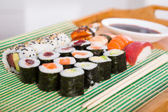 Sushi set in restaurant Stock Photography
