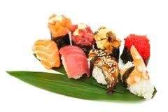 Sushi set of rolls isolated on white Royalty Free Stock Photo