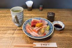 Sushi set seafood raw fish japanese food stock image