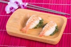 Sushi set, sushi with chopsticks Stock Images