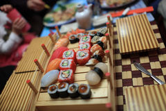 Sushi set on a table Royalty Free Stock Photo