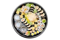 Sushi set takeaway isolated Stock Photos