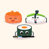 Sushi set. Vector cartoon illustration Royalty Free Stock Image