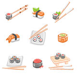Sushi set. Vector Royalty Free Stock Photography