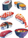 Sushi set. Vector illustration representing a sushi set Royalty Free Stock Photos