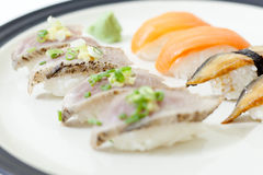 Sushi Set with Wasabi Royalty Free Stock Photos