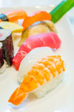 Sushi. Set in white dish for 1 persons Royalty Free Stock Photos