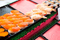 Sushi sets at asian street market Stock Photo