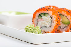 Sushi. Shallow depth of field. Focus on the wasabi Royalty Free Stock Image