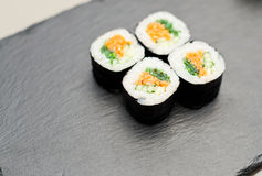 Sushi on a sheet of nori Royalty Free Stock Photo