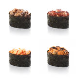 Sushi, Shiitake Mushroom, on a white background Stock Photos