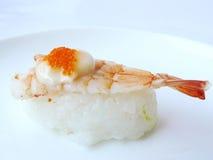 Sushi shrimp and flying fish roe with mayonnaise Stock Photography