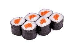 Sushi sjake maki. Isolated on a white background Stock Photography