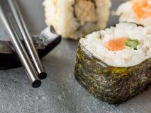Sushi on a slate Stock Photo