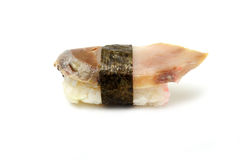 Sushi with a slice of smoked eel Royalty Free Stock Images