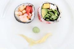 Sushi smile Stock Photos