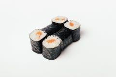 Sushi som isoleras på vit Royaltyfri Bild