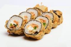 Sushi som isoleras på vit Royaltyfri Fotografi