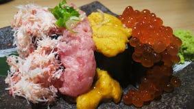 Sushi 4 sortes photo stock