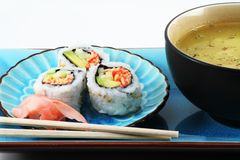 Sushi and Soup Royalty Free Stock Photos