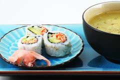 Sushi and Soup Stock Photo