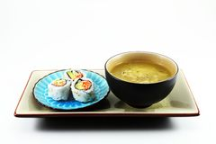 Sushi and Soup Royalty Free Stock Images