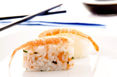 Sushi and soy sauce Stock Photos