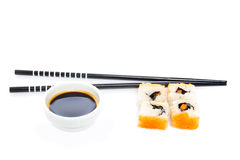 Sushi and soy sauce Royalty Free Stock Images